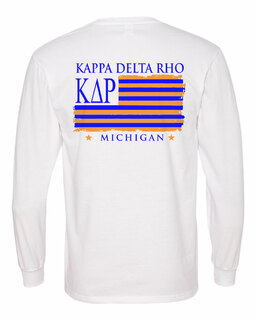 Kappa Delta Rho Stripes Long Sleeve T-shirt