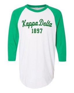 Kappa Delta Script Established Raglan