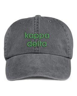Kappa Delta Stonewashed Cotton Hats