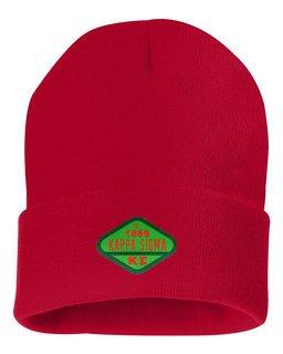 DISCOUNT-Kappa Sigma Woven Emblem Knit Cap