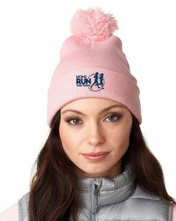 Moms Runs This Town Knit Pom-Pom Beanie with Cuff
