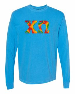 Comfort Colors Tie Dye Lettered Long Sleeve T-Shirt