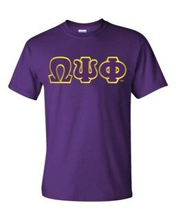Omega Psi Phi T-Shirt, Applique