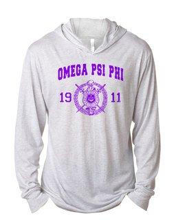 Omega Psi Phi Unisex Triblend Long-Sleeve Hoodie