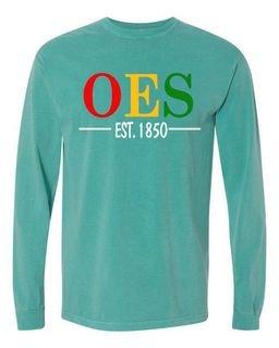 Order Of Eastern Star Custom Greek Lettered Long Sleeve T-Shirt - Comfort Colors