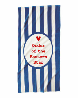 Order Of Eastern Star Striped Beach Towel
