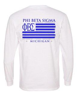 Phi Beta Sigma Stripes Long Sleeve T-shirt