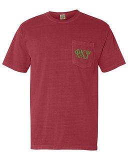 Phi Kappa Psi Greek Letter Comfort Colors Pocket Tee