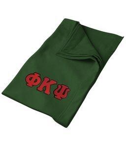 DISCOUNT-Phi Kappa Psi Twill Sweatshirt Blanket