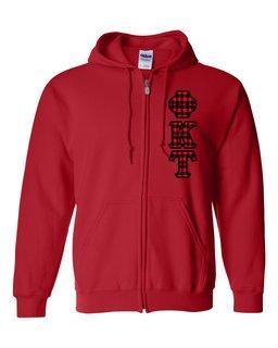 """Phi Kappa Tau Heavy Full-Zip Hooded Sweatshirt - 3"""" Letters!"""