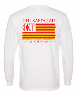 Phi Kappa Tau Stripes Long Sleeve T-shirt