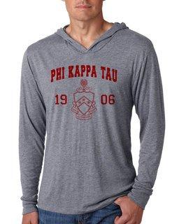 Phi Kappa Tau Unisex Triblend Long-Sleeve Hoodie