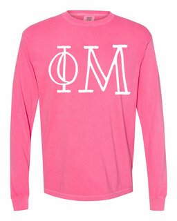 Phi Mu Comfort Colors Greek Long Sleeve T-Shirt