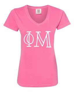Phi Mu Comfort Colors V-Neck T-Shirt