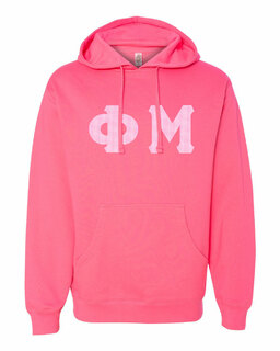 Phi Mu Lettered Independent Trading Co. Hooded Pullover Sweatshirt