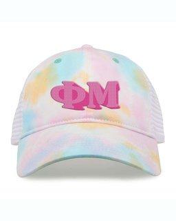 Phi Mu Sorority Sorbet Tie Dyed Twill Hat