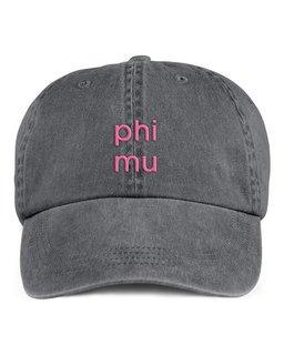 Phi Mu Stonewashed Cotton Hats