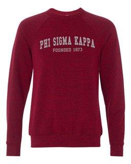 Phi Sigma Kappa Fraternity Founders Crew Sweatshirt