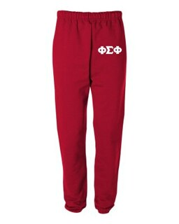 Phi Sigma Phi Greek Lettered Thigh Sweatpants