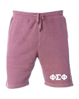 Phi Sigma Phi Pigment-Dyed Fleece Shorts