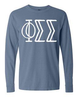 Phi Sigma Sigma Comfort Colors Greek Long Sleeve T-Shirt