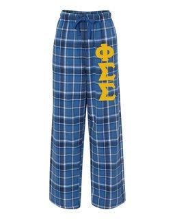 Phi Sigma Sigma Pajamas -  Flannel Plaid Pant
