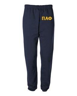 Pi Alpha Phi Greek Lettered Thigh Sweatpants