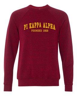 Pi Kappa Alpha Fraternity Founders Crew Sweatshirt