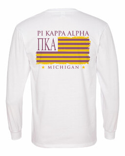 Pi Kappa Alpha Stripes Long Sleeve T-shirt