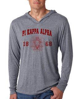 Pi Kappa Alpha Unisex Triblend Long-Sleeve Hoodie