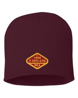 DISCOUNT-Pi Kappa Alpha Woven Emblem Beanie