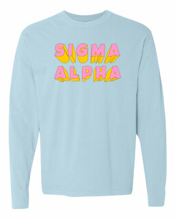 Sigma Alpha 3Delightful Long Sleeve T-Shirt - Comfort Colors