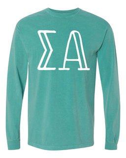 Sigma Alpha Comfort Colors Greek Long Sleeve T-Shirt