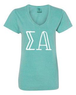 Sigma Alpha Comfort Colors V-Neck T-Shirt