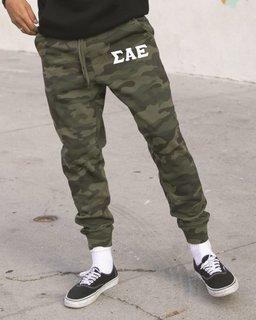 Sigma Alpha Epsilon Camo Fleece Pants