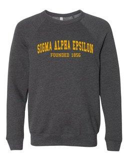 Sigma Alpha Epsilon Fraternity Founders Crew Sweatshirt