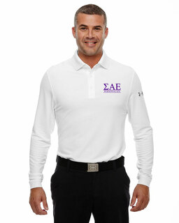Sigma Alpha Epsilon Under Armour�  Men's Performance Long Sleeve Fraternity Polo