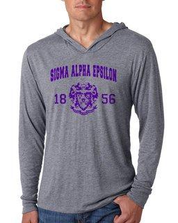 Sigma Alpha Epsilon Unisex Triblend Long-Sleeve Hoodie