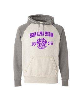 Sigma Alpha Epsilon Vintage Heather Hooded Sweatshirt