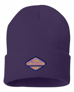 DISCOUNT-Sigma Alpha Epsilon Woven Emblem Knit Cap