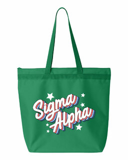 Sigma Alpha Flashback Tote bag