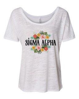 Sigma Alpha Floral Tribal Slouchy Tee
