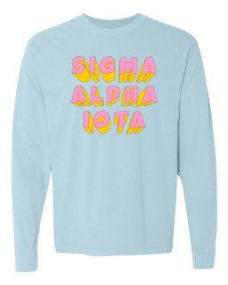Sigma Alpha Iota 3Delightful Long Sleeve T-Shirt - Comfort Colors