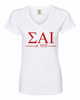 Sigma Alpha Iota Comfort Colors Custom V-Neck T-Shirt