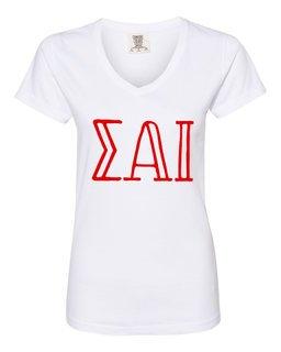 Sigma Alpha Iota Comfort Colors V-Neck T-Shirt