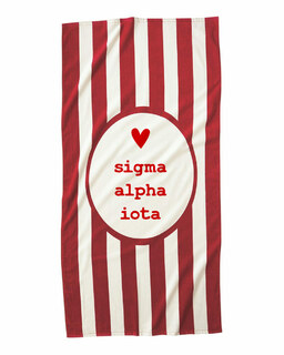 Sigma Alpha Iota Striped Beach Towel