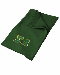 DISCOUNT-Sigma Alpha Lettered Twill Sweatshirt Blanket