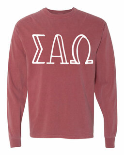 Sigma Alpha Omega Comfort Colors Greek Long Sleeve T-Shirt