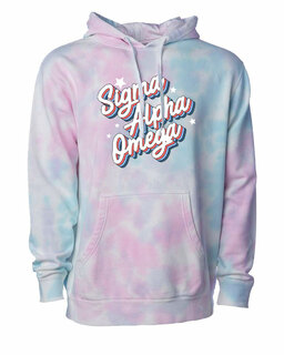 Sigma Alpha Omega Cotton Candy Tie-Dyed Hoodie