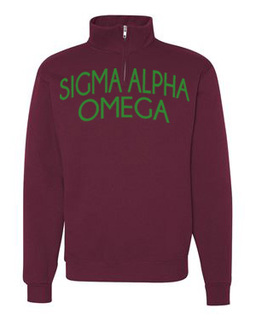Sigma Alpha Omega Over Zipper Quarter Zipper Sweatshirt